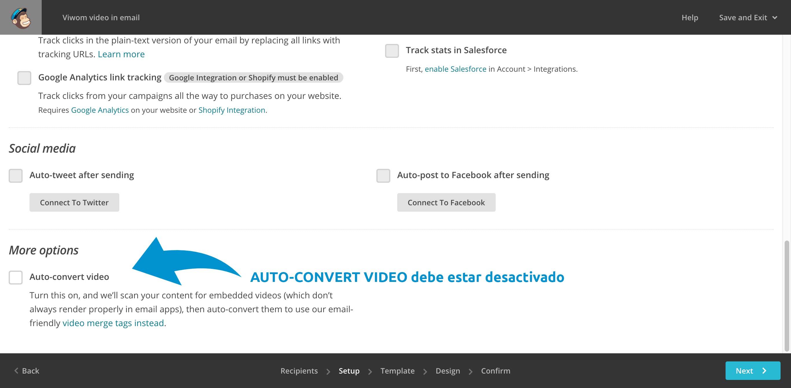 Auto-convert vídeo desactivado