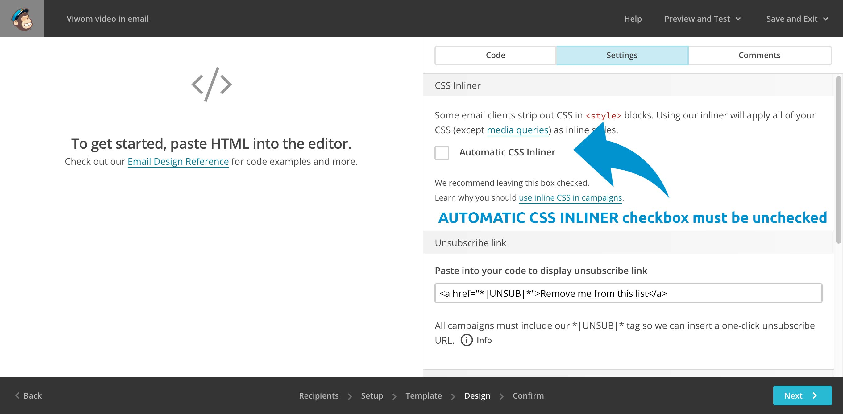 AUTOMATIC CSS INLINER unchecked